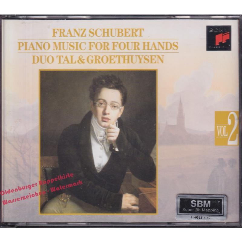 Franz Schubert: Piano Music For Four Hands Vol.II   - Duo Ta & Groethuysen