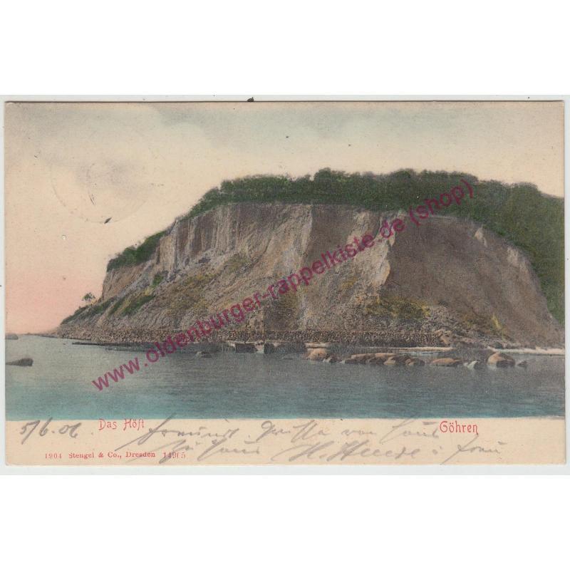 AK  Das Höft  Göhren Rügen gel. 1907 col. postcard
