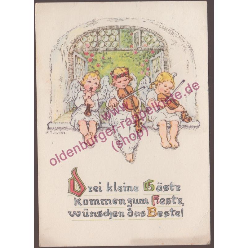 AK Grußpostkarte (Franziska-Schenkel) gel. 1942 postcard carte postale -
