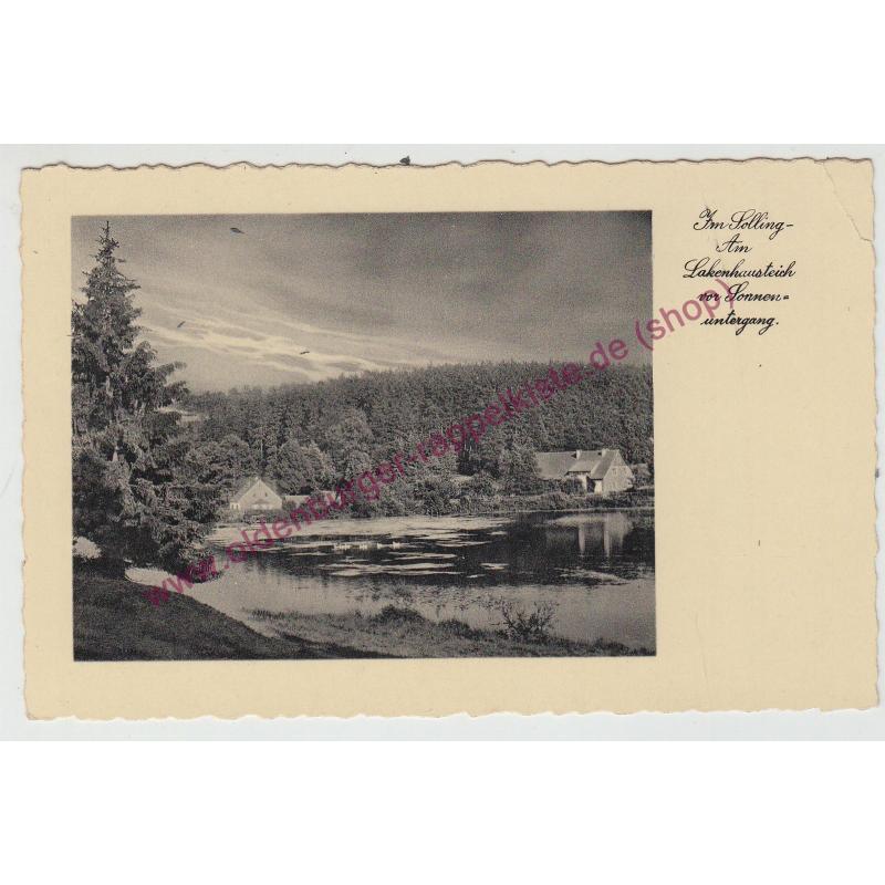 AK  Im Solling - Am Lakenhausteich vor Sonnenuntergang - gel. 1935 ( Dassel/Northeim-Niedersachsen)