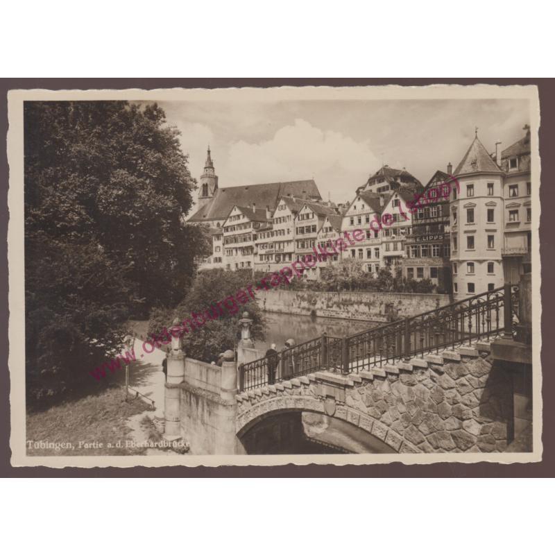 AK  Tübingen Partie an der Eberhardbrücke - Photografiekarte -