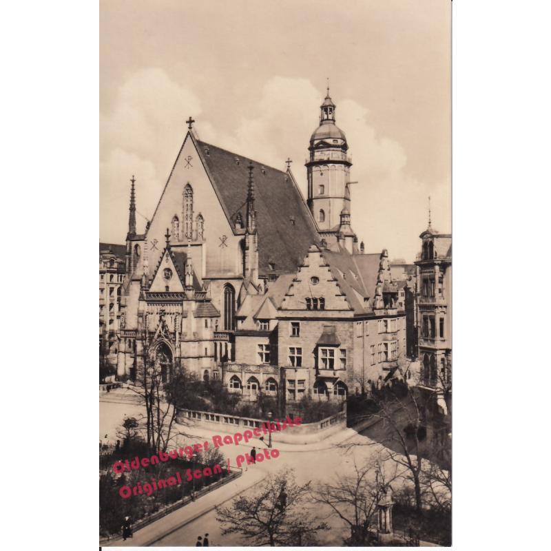 AK  Thomaskirche * Leipzig * Echt-Foto (1956)  - nicht gelaufen-