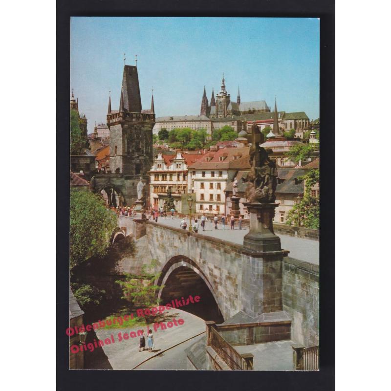 AK  Prager Burg Hradcany mit Karlsbrücke  Prag  Praque  Praha