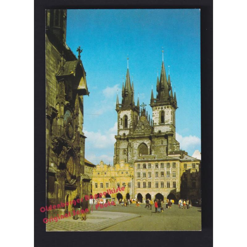 AK  Altstädter Rathaus und die Theinkirche  Prag  Praque  Praha