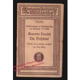 Erläuterungen zu Meisterwerken der Tonkunst. 33. Band: Giacomo Puccini. Die Bohème ( RUB 6440)- Chop, Max