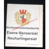 Karte  Nordseeküstenbadeorte  Esens-Bensersiel und Neuharlingersiel ( 1970) -