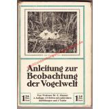 Anleitung zur Beobachtung der Vogelwelt (1917) - Zimmer, Carl