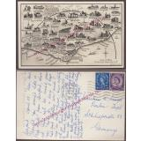AK  EASTBOURNE / Britain - England 1961 gel.  Postcard -