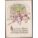 AK Grußpostkarte gel. 1942 postcard carte postale -