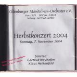 Herbstkonzert 2004 *  Oldenburger Mandolinen-Orchester * Gertrud Weyhofen/ Klaus Heikenfeld *