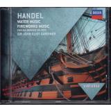 HANDEL. Watermusic - Fireworks Music  * VG+*  Sir Eliot Gardiner/ English Baroque Soloists